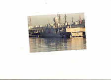 Vintage Color Photograph USS Taurus Naval Ship Hydrofoil Boat  PHM-3