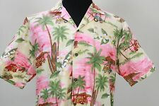 KY's palm tree plants woody car surfboards tower Hawaiian shirt large