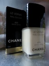 CHANEL 459 WHITE SATIN IMPOSSIBLE TO FIND NAIL COLOUR VARNISH NEW ! DAMAGED BOX