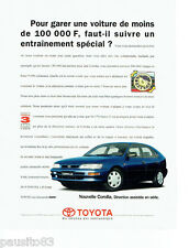 PUBLICITE ADVERTISING 096  1995  Toyota   la nouvelle Corolla direction assistée
