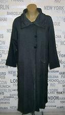 LUUKAA: Traum Lagenlook Sweatshirt-Mantel anthrazit Vintage-Look Gr. 48 - 50 NEU