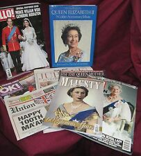 BRITISH QUEEN ELIZABETH WILLAM OK HELLO PICTURE MAGAZINE BOOK COLLECTION BT1