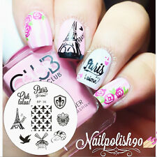 France Theme Nail Art Stamping Template Image Plate BORN PRETTY BP36