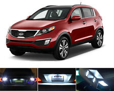 White LED Package - License Plate + Vanity + Reverse for Kia Sportage (4 Pcs)