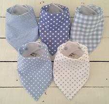 Bandana Dribble Bib Bundle x 5 Boys~ Pale Blue ~ Gorgeous! Bilibib