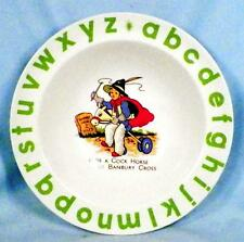 Wood & Sons Child's Bowl ABC Nursery Rhyme Ride A Cock Horse Green Alphabet