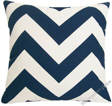 Navy Blue/White Chevron ZigZag Decorative Throw Pillow Cover/Cushion Cover 20""