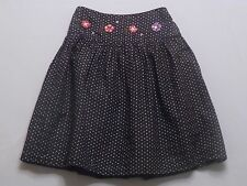 "Gymboree ""Pretty in Plum"" Lined Navy Blue Polka Dot Flower Skirt, 4"