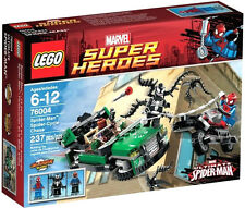 """Lego Super Heroes Marvel Set 76004 """"Spider-Man: Spider-Cycle Chase""""! Nuovo"""