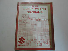 1985 Suzuki Motorcycle F Model Wiring Diagram Manual STAINED FADING WATER DAMAGE