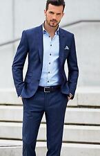 Custom Made Men's Slim Fit Wedding Suits Groom Tuxedos Groomsmen Formal Suit