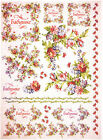 Rice Paper for Decoupage Decopatch Scrapbook Craft Sheet Flowers Borders Corners