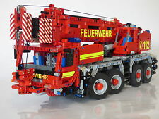 Building instruction 42009 Car crane Fire brigade Self-made Moc Lego Technic