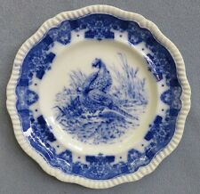 Copeland Spode Blue and White Tower Pheasant Game Bird Dinner Plate England