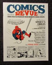 1985 COMICS REVUE Magazine #14 FVF 7.0 Amazing Spider-Man Origin