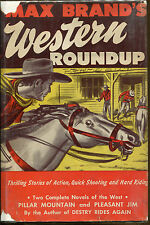 Max Brand's Western Roundup-2 Complete Novels-HC/DJ-1944