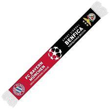 Spiel Schal Bayern München - Benfica Lissabon, scarf half-half, Bufanda,Echarpe