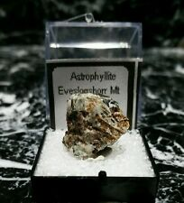 MINERALS : GOLDEN BROWN CRYSTALS OF ASTROPHYLLITE FROM RUSSIA