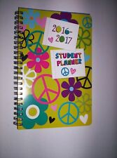 "2016-2017 ""PEACE SIGNS"" Student Planner/ Monthly/Calendar/Organizer/Agenda ~"