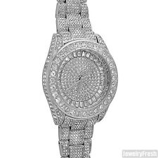 Silver Presidential 41MM Big Face Iced Out Watch for Men or Women