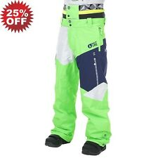 PICTURE MENS EU L LARGE NOVA SKI SNOWBOARD PANTS SALOPETTES GREEN 25% OFF!