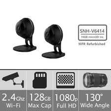 SNH-V6414BMR - 2 Pack Samsung HD Plus WiFi IP Camera-16GB microSD Card Included