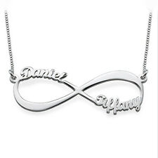Infinity Name Necklace in Sterling Silver 0.925 - Personalized (USA Seller)