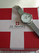 St Moritz GB03615/20 Men's Swiss Made Stainless Steel Bracelet Strap Watch - NEW