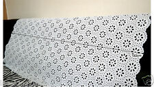 "1y Embroidery  Eyelet Cotton Lace Fabric White - 90cm(36"") x 132cm(52"") yh1447"