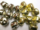 25mm metallic gold or silver Jingle Bells 5 or 10. Christmas, toy embellishment