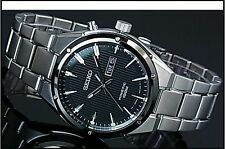 SEIKO KINETIC MENS GENTS SMY151 100M BLACK FACE DAY DATE  WATCH RRP£250!!!