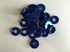 Kart Pack of 25 x M8 x 21mm CSK Countersunk Washer Blue Brand New Karting