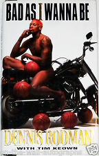 DENNIS RODMAN HAND SIGNED AUTOGRAPHED BAD AS I WANNA BE BOOK! WITH PROOF+C.O.A.!