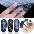 108PCS 3D Silver Decal Stickers Nail Art Tip DIY Decoration stamping Manicure SL