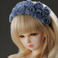 Dollmore common size doll accessory MSD & SD - Blue Rose Hairband (238)