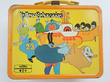The Beatles Yellow Submarine Original Lunch Box Tin Metal King Seeley 1968 Vtg
