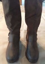 WOMEN'S BOOTS, KNEE HIGH, BROWN, 1 INCH HEEL, NEW, SIZE 6M, VERY CHERRY