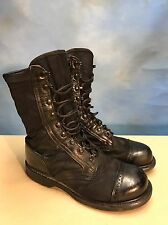 Vintage CORCORAN Cap Toe Military Leather Combat Biker Boots Distressed 9.5EE