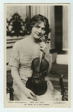 c 1911 British Edwardian Theater LILY ELSIE Beauty w/ Viola Fashion photo pcard