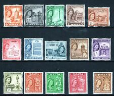 MALTA 1956 Definitive set  SG266/282 FRESH MNH