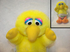 "big bird softies in diaper 1980 nice clean 10"" cute seasame street muppets"