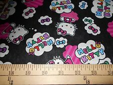 "2 yards Hello Kitty ""Cloud Toss""  Fabric"