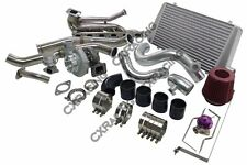 GT35 Turbo Kit Manifold Downpipe Intercooler Top Mount For 92-98 BMW E36 Black