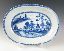 "Mottahedeh BLUE CANTON 13"" Oval DEEP SERVING TRAY Platter Bowl CHARLESTON Alegre"