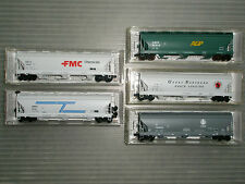 MTL 3 bay ACF center flow covered hopper car mix lot(5)used,extra clean,nice set