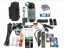 VAS 84 PC EDC Be Ready for Anything Survival Kit in a Bottle & MOLLE Bottle Bag