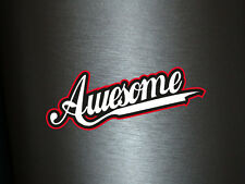 1 x Aufkleber Awesome Sticker Spruch Text Shocker Tuning Autoaufkleber Fun Gag