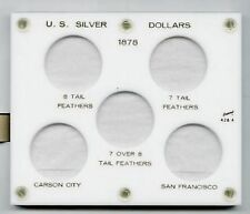 United States Morgan Silver Dollars Varities of 1878 White  Plastic holder