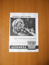 1938 OLIVETTI PORTATILE ANNI 30 EPOCA ANTICA MACCHINA SCRIVERE PUBBLICITA AD