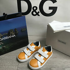 BNIB DOLCE & GABBANA Leather Sneakers DG Trainers RRP£165 UK 10 Eu28 100%Genuine